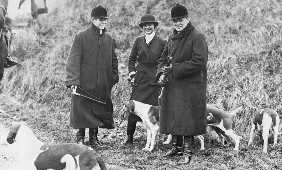 Winston Churchill Hunting with his and Coco Chanel