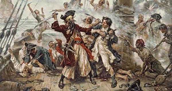 Blackbeard In His Final Battle