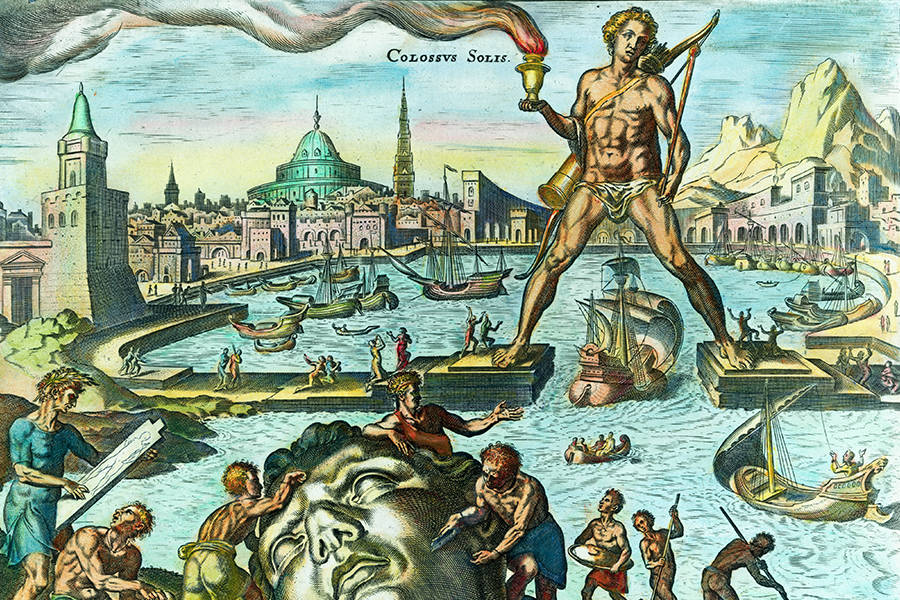 Color Print Colossus Of Rhodes