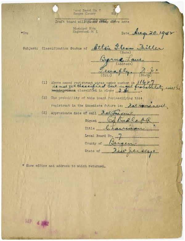 Glenn Miller Military File