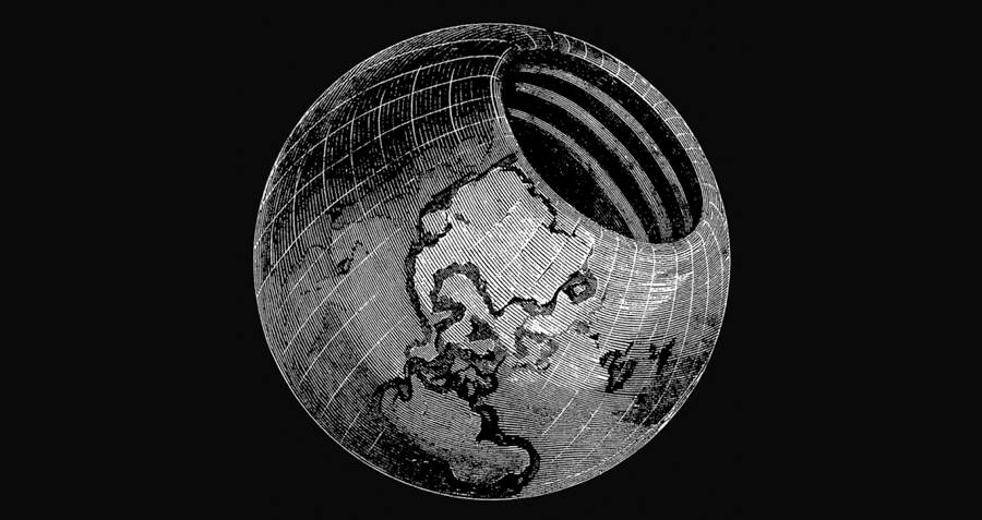 Hollow Earth Theory Rendering
