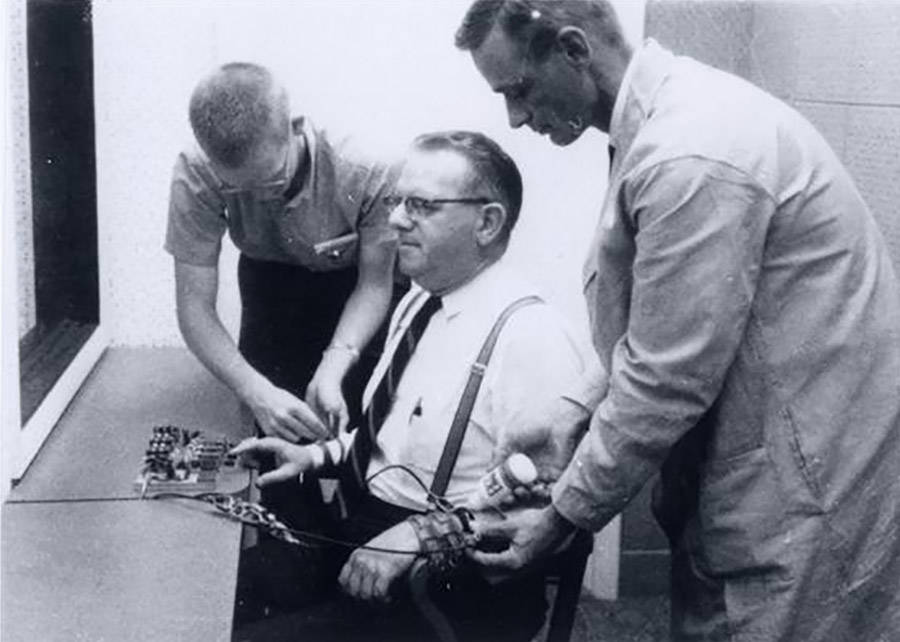 Milgram Experiment Man