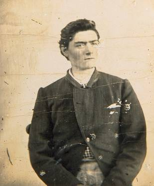 A mugshot of young Ned Kelly