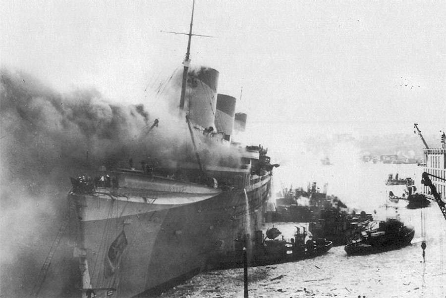 The SS Normandie attack would lead to Operation Husky.