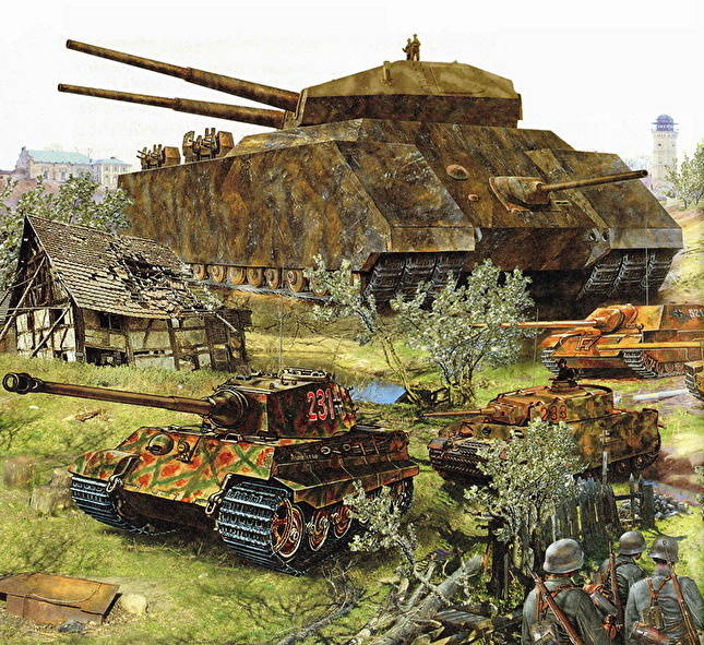 Tank Ratte Painting