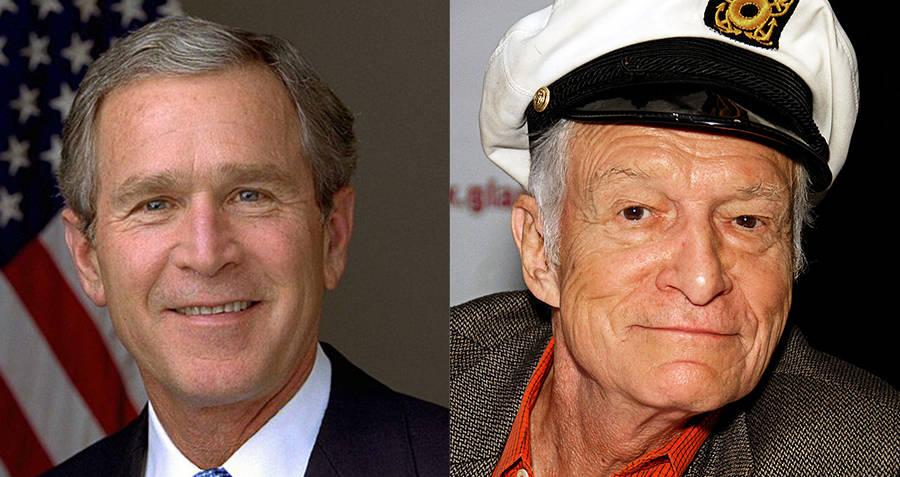 George W. Bush and Hugh Hefner