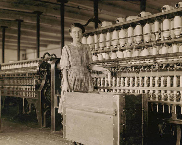 French Girl In Cotton Mill