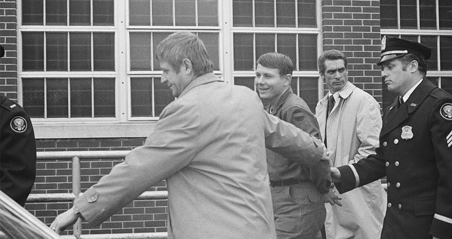 Robert Preston Being Escorted Out Of The White House