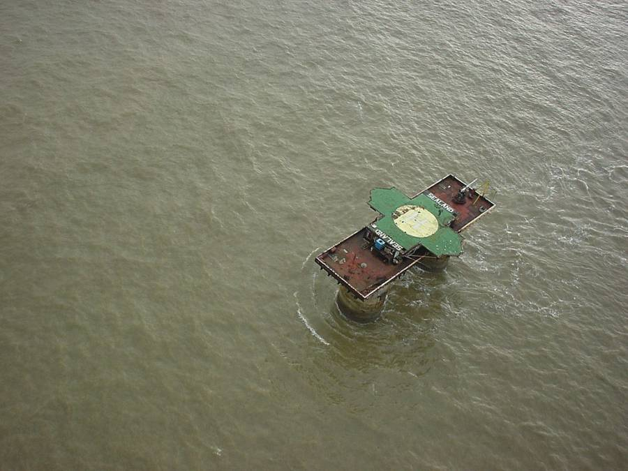 Principality Of Sealand From Above