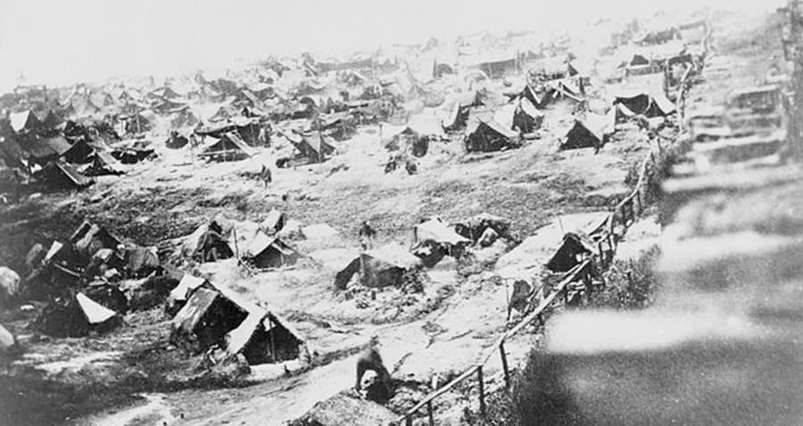 Prison Camp Tents