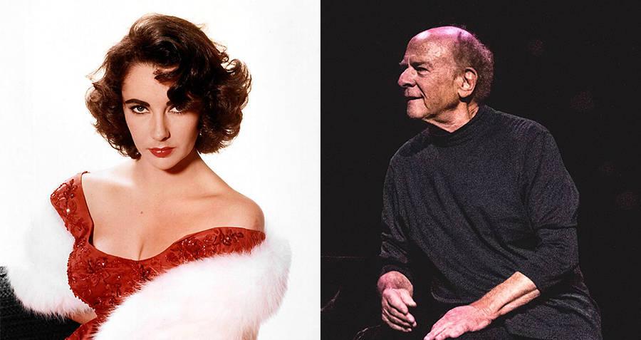 Elizabeth Taylor and Art Garfunkel