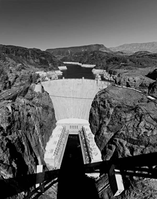Hoover Dam Aerial Shot