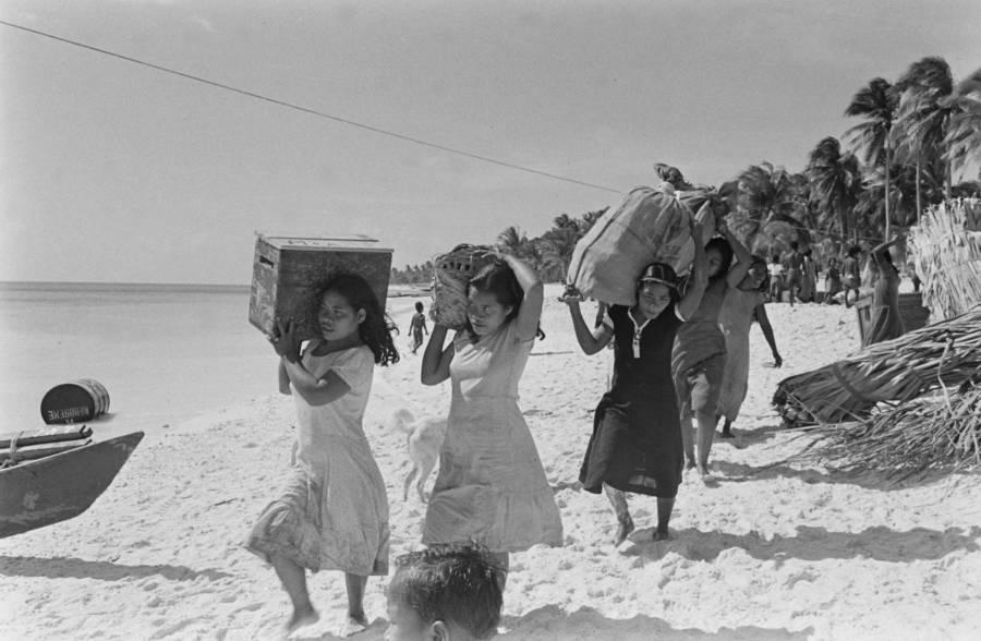 Bikini Atoll Islanders Evacuate Before Operation Crossroads
