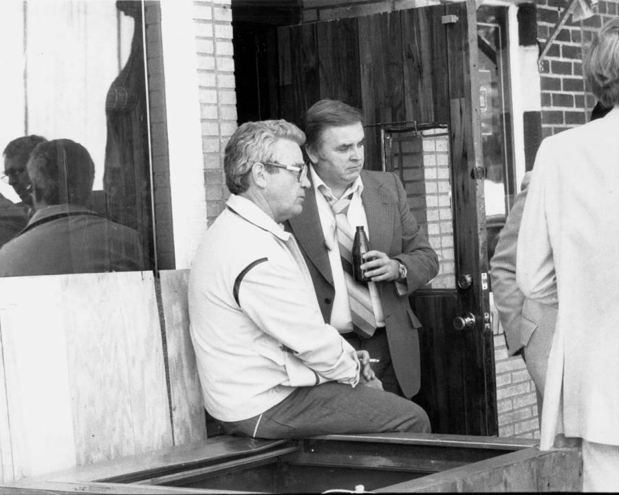 Jimmy Burke Outside His Tavern