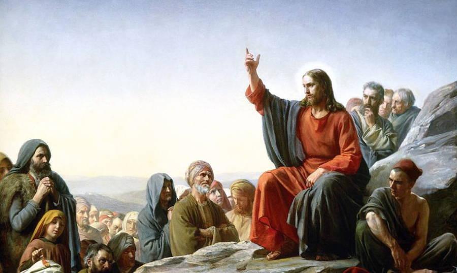 Jesus Delivering Sermon