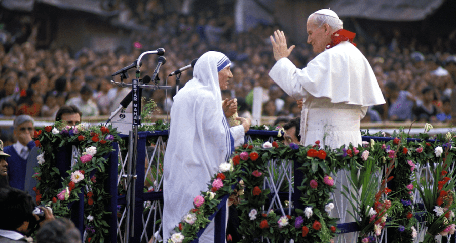 John Paul II and Mother Teresa