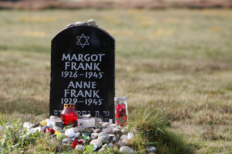 Memorial Stone For Anne And Margot Frank