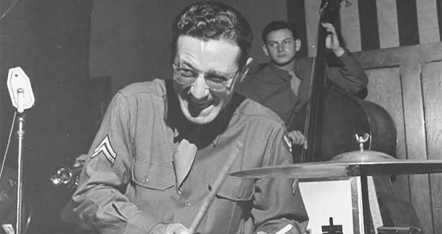 Glenn Miller Playing The Drums