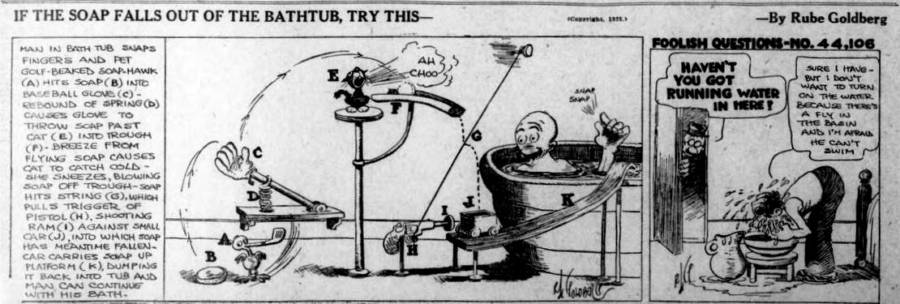 Rube Goldberg Machine Cartoon