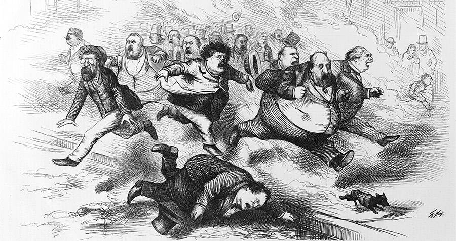 Tammany Hall And Tweed Ring Cartoon