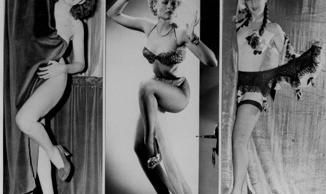 Erotic vintage burlesque dancers