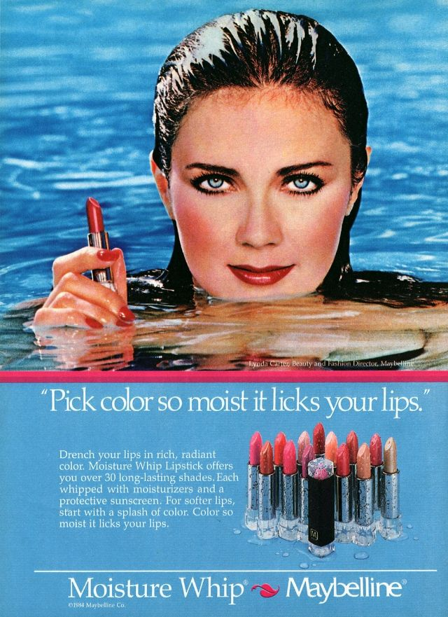 Lynda Carter Modeling for Maybelline Cosmetics in the 1980s