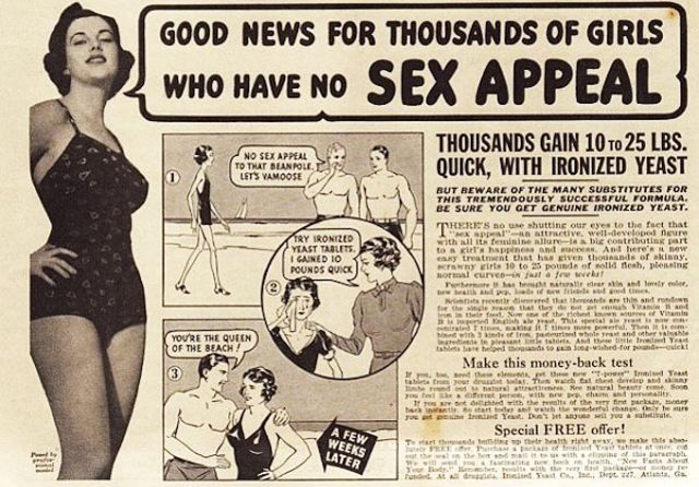 Back When Women Wanted to Get Fat: 26 Funny Vintage Ads