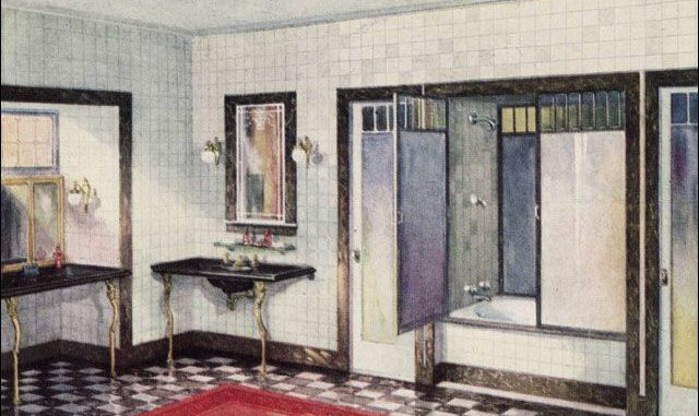 25 Cool Illustration Pics Show What Bathrooms Looked Like ...