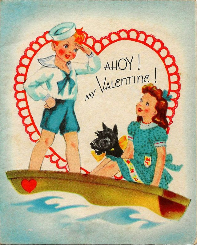 50 vintage child's valentine cards made in usa from